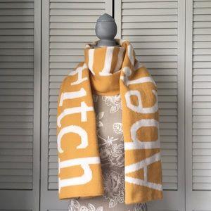 🔥A&F Knit Scarf Wrap Logo Reversible Unisex